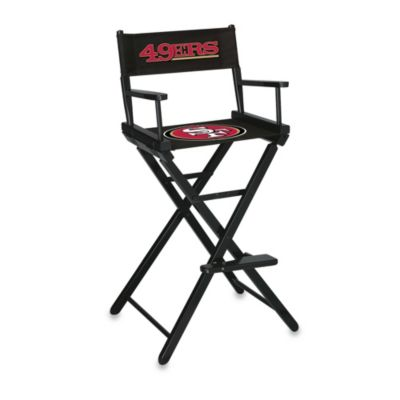 NFL San Francisco 49ers Bar Height Directors Chair