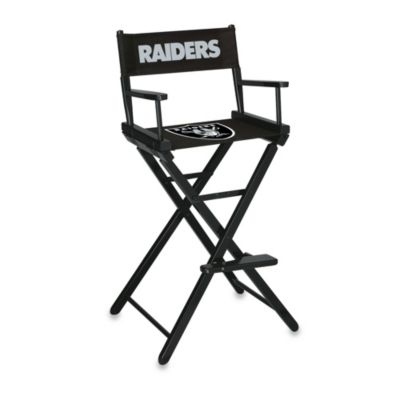NFL Oakland Raiders Bar Height Directors Chair