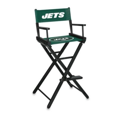 NFL New York Jets Bar Height Directors Chair