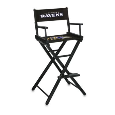 NFL Baltimore Ravens Bar Height Directors Chair