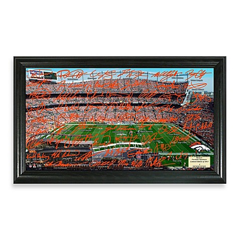 Denver Broncos Signature Gridiron Collection Photo Frame