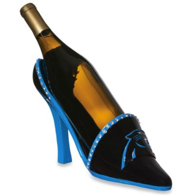 NFL Carolina Panthers Team Shoe Wine Bottle Holder