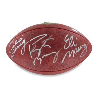 Steiner Sports Archie, Eli, and Peyton Manning Triple-Signed NFL Duke Football