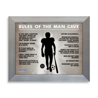 Rules of the Man Cave Wall Plaque