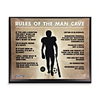 Man Cave Rules Plaque