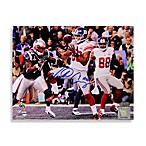 Victor Cruz Signed Super Bowl XLVI Touchdown 8-Inch x 10-Inch Photo