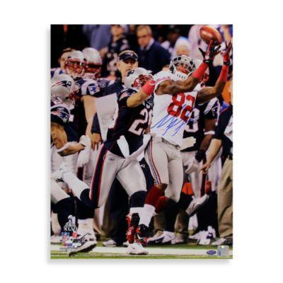 Mario Manningham Signed Super Bowl XLVI Catch 8-Inch x 10-Inch Photo