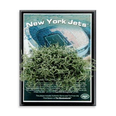 Jets Meadowlands Game-Used Turf Plaque