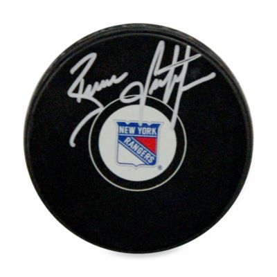 Brian Leetch Autographed New York Rangers Hockey Puck