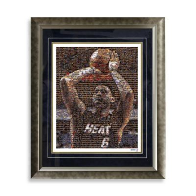 Lebron James Framed Limited Edition 16-Inch x 20-Inch Mosaic Collage Photo