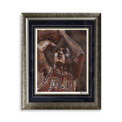 Derrick Rose Framed Limited Edition 16-Inch x 20-Inch Mosaic Collage Photo
