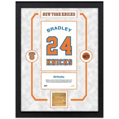 Bill Bradley New York Knicks Legends 14-Inch x 14-Inch Framed Collage with Court Piece
