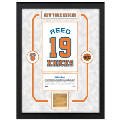 Willis Reed New York Knicks Legends 14-Inch x 18-Inch Framed Collage with Court Piece