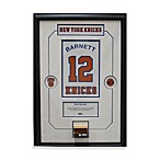 Dick Barnett Retired Number NY Knicks Championship 14-Inch x 18-Inch Framed Collage with Nameplate