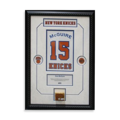 Dick McGuire Retired Number New York Knicks Championship Court Piece 14-Inch x 18-Inch Collage