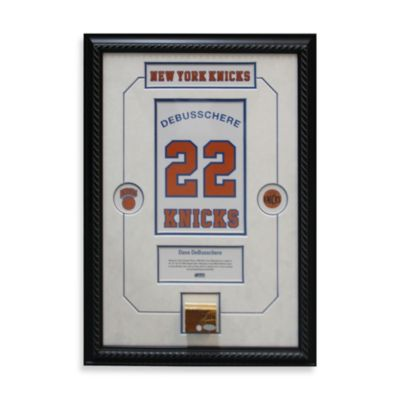 Dave DeBusschere Retired Number New York Knicks Championship 14-Inch x 18-Inch Framed Collage