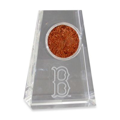 "Tapered Crystal Paper Weight With Boston Red Sox ""B"" Logo"