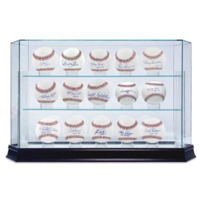 Glass 15-Ball Baseball Display Case