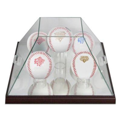 Glass Pyramid 5-Ball Baseball Display Case