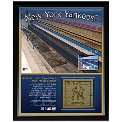 New York Yankees 8-Inch x 10-Inch Stadium Bench Plaque
