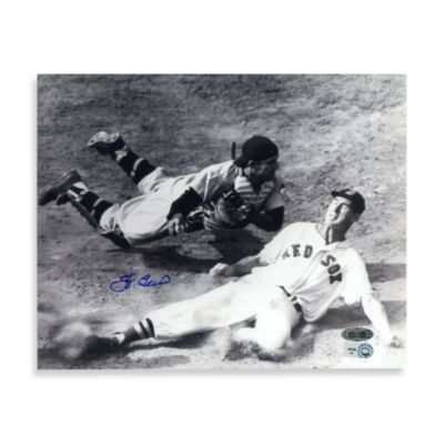 Yogi Berra Autographed vs. Ted Williams Slide Autographed 8-Inch x 10-Inch Photograph