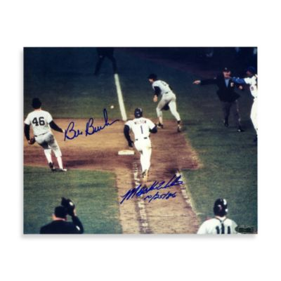 Bill Buckner and Mookie Wilson Dual Autographed 8-Inch x 10-Inch Photograph