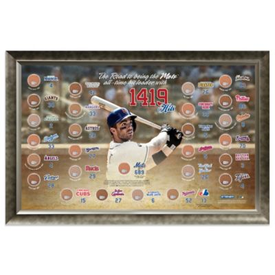 New York Mets David Wright All-Time Hits Leader Framed 20-Inch x 32-Inch Collage