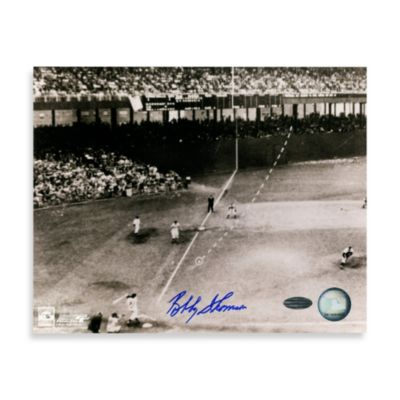 Bobby Thomson Autographed 8-Inch x 10-Inch Photograph with Jackie Robinson