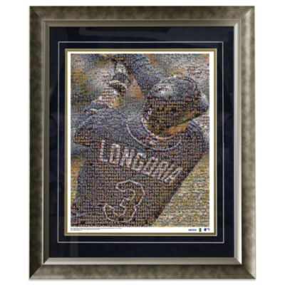 Evan Longoria Tampa Bay Devil Rays Framed Mosaic 16-Inch x 20-Inch Collage Photo