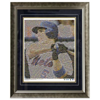 David Wright New York Mets Mosaic Framed 16-Inch x 20-Inch Collage Photograph (Limited Of 1000)