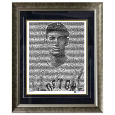 Ted Williams Boston Red Sox Mosaic Framed 16-Inch x 20-Inch Collage Photograph (Limited of 1,000)