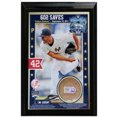 Mariano Rivera Record-Breaking 602nd Career Save 4-Inch x 6-Inch Authentic Field Dirt Plaque