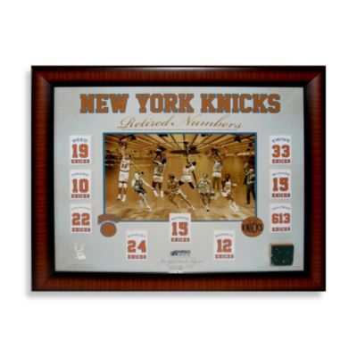 "New York Knicks Floating Retired Number Banners 20"" x 24"" Collage"