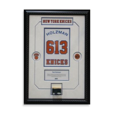 "Red Holzman Retired Number with Championship Court Framed 14"" x 20"" Collage"