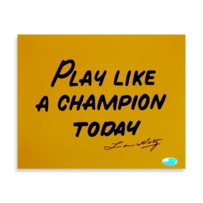 """Steiner Sports Lou Holtz """"Play Like A Champion Today"""" Signed Photograph"""