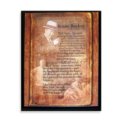 Steiner Sports Knute Rockne Speech 8-Inch x 10-Inch Plaque