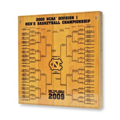 Steiner Sports North Carolina Basketball Court Piece with 2009 Tournament Bracket