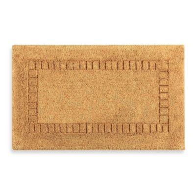 Kassatex Silk 2-Foot x 3-Foot 4-Inch Inch Bath Rug in Gold