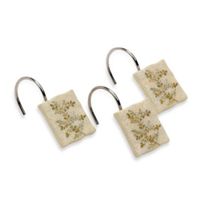 Avanti Greenwood Shower Curtain Hooks (Set of 12)