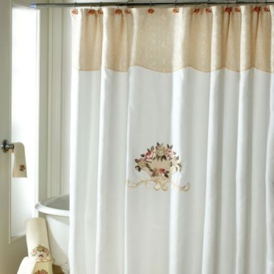Avanti Rosefan 72-Inch x 72-Inch Shower Curtain