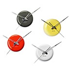 Present Time Karlsson 5-Inch Cermaic Dot Wall Clock