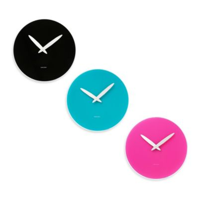 Karlsson 14-Inch Bold Hand Wall Clock in Black