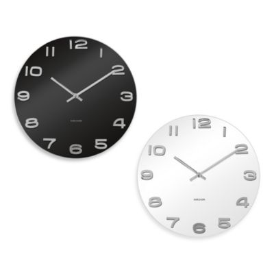 Present Time Karlsson 14-Inch Vintage Wall Clock