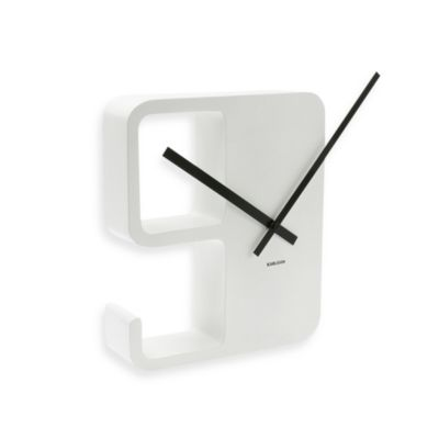 Karlsson Big 9 Wall Clock in White