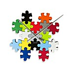 Present Time Karlsson 32-Inch DIY Puzzle Multi-Color Wall Clock