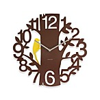 Present Time Karlsson 16-Inch Woodpecker Wall Clock