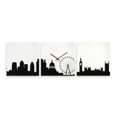 Present Time Karlsson New York Skyline Wall Clock