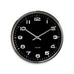 Present Time Karlsson 10-Inch Mini Maxie Wall Clock in Chrome and Black