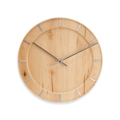 Present Time Karlsson 11-Inch Pure Wood Wall Clock