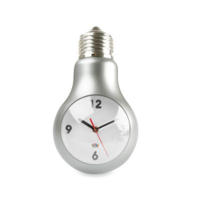 Present Time Light Bulb Wall Clock